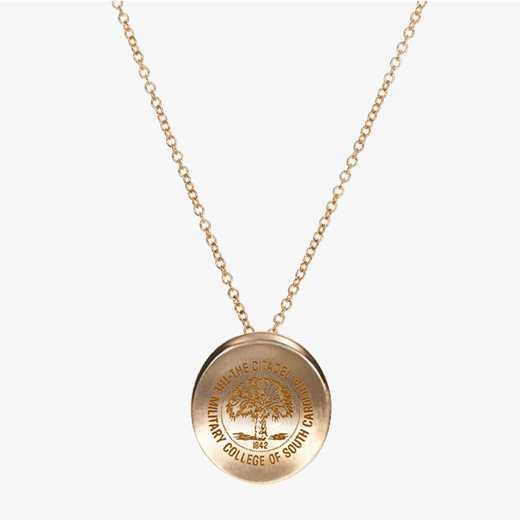 CIT0113AU: 14k Yellow Gold Citadel Organic Necklace by KYLE CAVAN