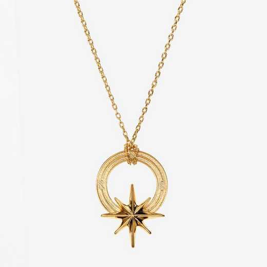 COMP06: Cavan Gold Compass Star  Necklace by KYLE CAVAN