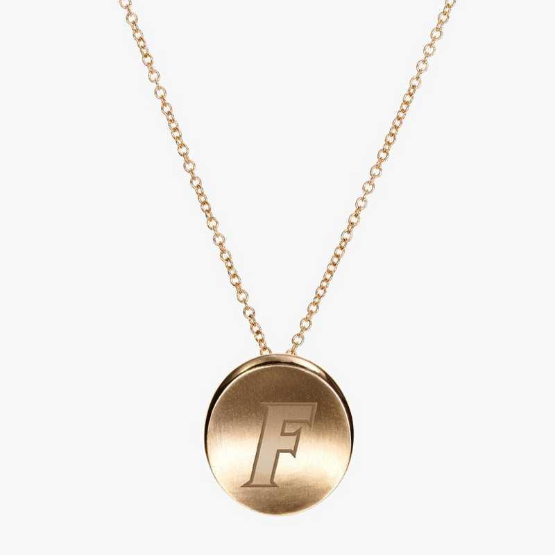 FL0113AUF: 14k Yellow Gold Florida Organic Necklace by KYLE CAVAN