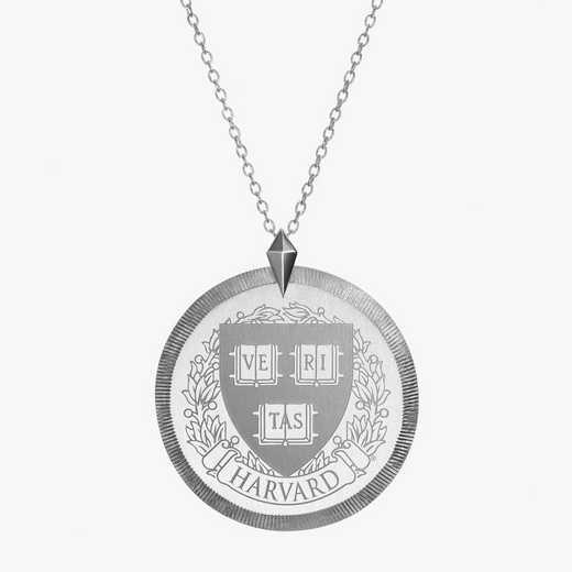 HAR0121: Sterling Silver Harvard Florentine Necklace by KYLE CAVAN
