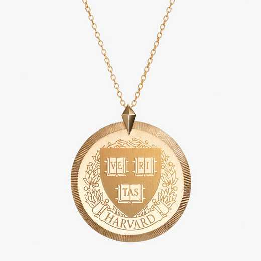 HAR0122AU: 14k Yellow Gold Harvard Florentine Necklace by KYLE CAVAN
