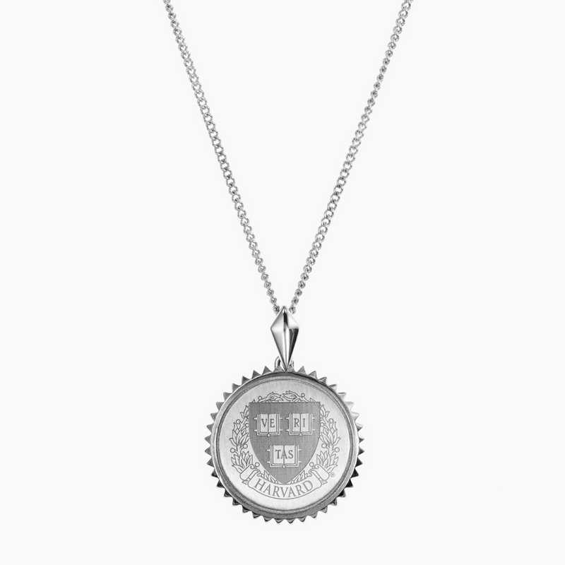 HAR0115: Sterling Silver Harvard Sunburst Necklace by KYLE CAVAN