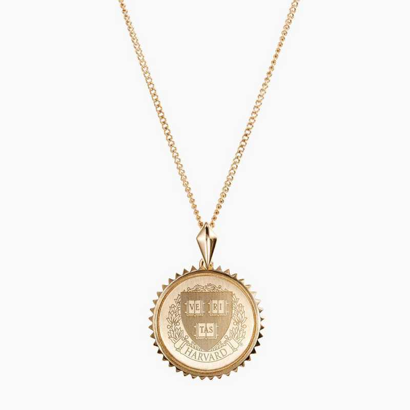 HAR0116: Cavan Gold Harvard Sunburst Necklace by KYLE CAVAN