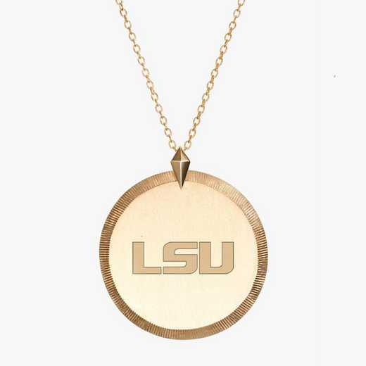 LSU0122LSU: Cavan Gold LSU Florentine Necklace by KYLE CAVAN