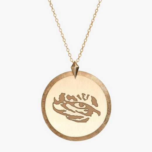 LSU0122TIG: Cavan Gold LSU Florentine Tiger Necklace by KYLE CAVAN