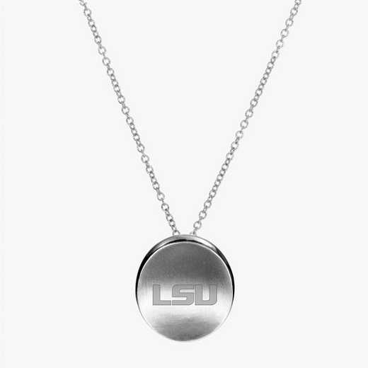 LSU0112LSU: Sterling Silver LSU Organic Ncklc by KYLE CAVAN