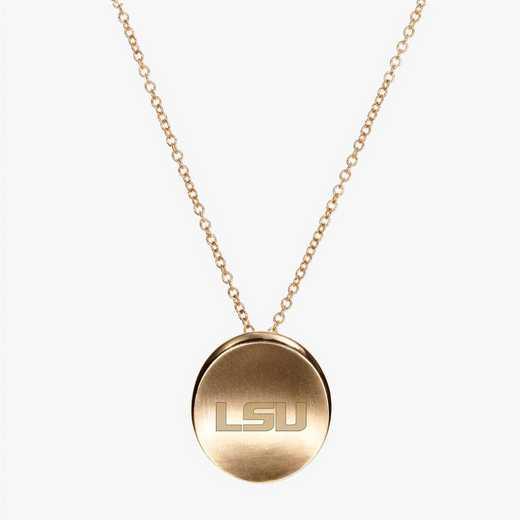 LSU0113LSU: Cavan Gold LSU Organic Necklace by KYLE CAVAN