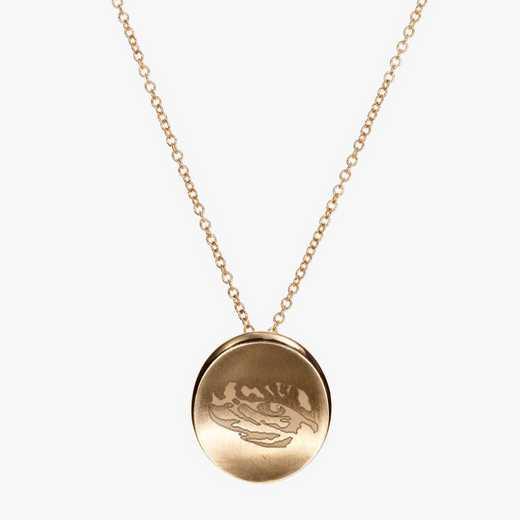 LSU0113TIG: Cavan Gold LSU Organic Tiger Necklace by KYLE CAVAN