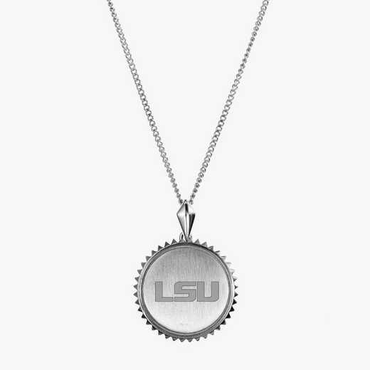 LSU0115: Sterling Silver LSU Sunburst Ncklc by KYLE CAVAN