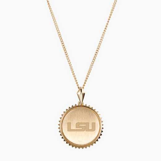 LSU0116: Cavan Gold LSU Sunburst Necklace by KYLE CAVAN