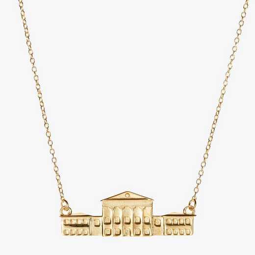 MIS0207: Cavan Gold Ole Miss Lyceum Necklace by KYLE CAVAN