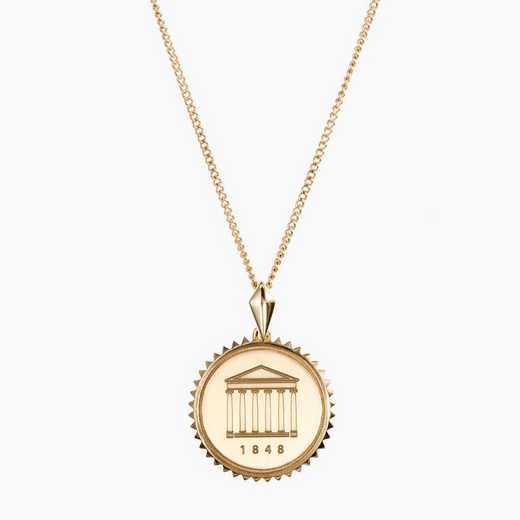 MIS0116: Cavan Gold Ole Miss Sunburst Necklace by KYLE CAVAN