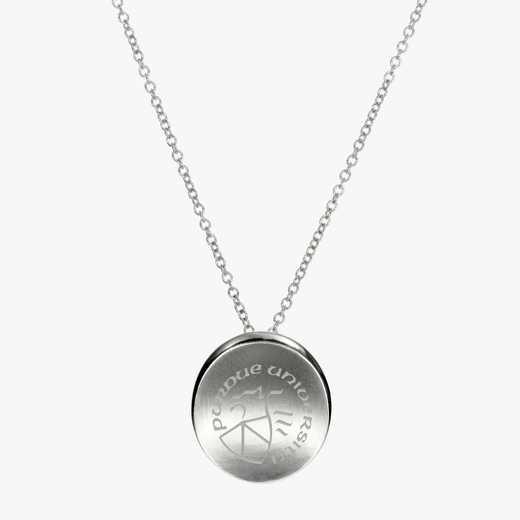 PUR0112: Sterling Silver Purdue Organic Ncklc by KYLE CAVAN