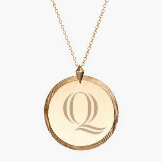 QU0122QAU: 14k Yellow Gold Quinnipiac Florentine Necklace by KYLE CAVAN