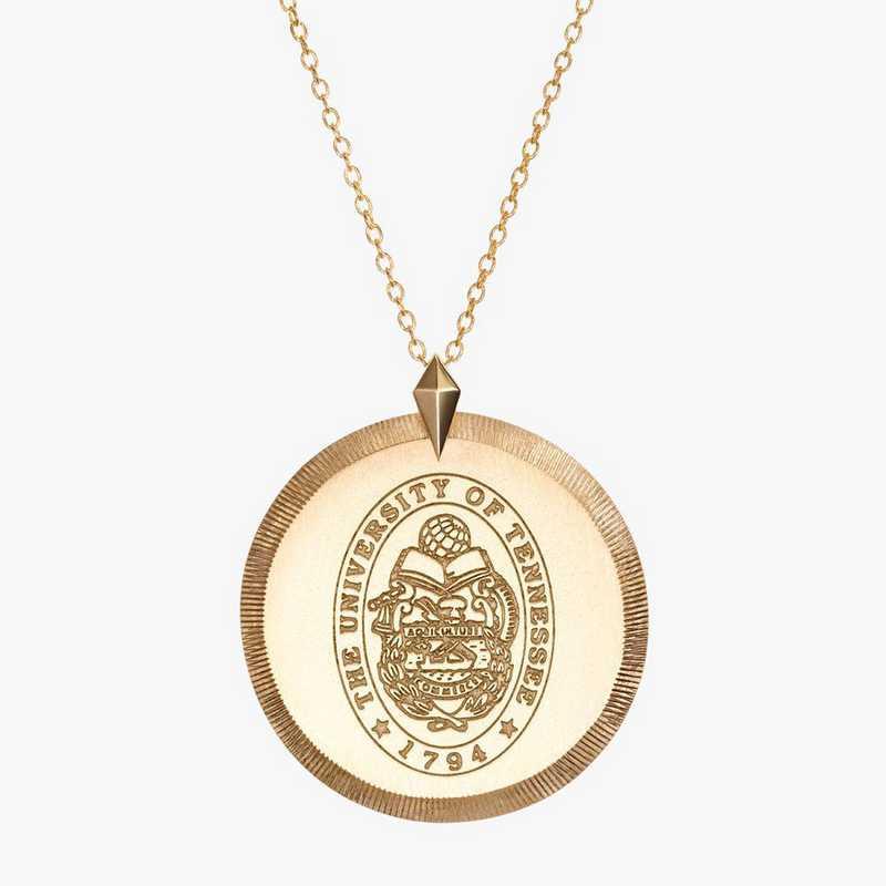 TEN0122AU: 14k Yellow Gold Tennessee Florentine Necklace by KYLE CAVAN