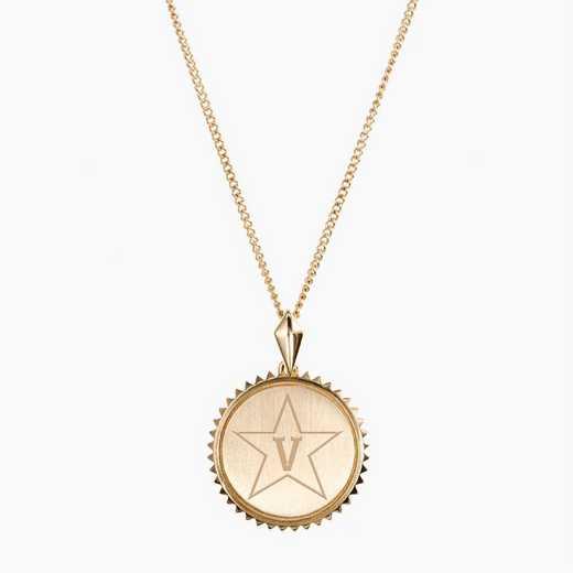VAN0116STARAU: 14k Yellow Gold Vanderbilt Sunburst Necklace by KYLE CAVAN