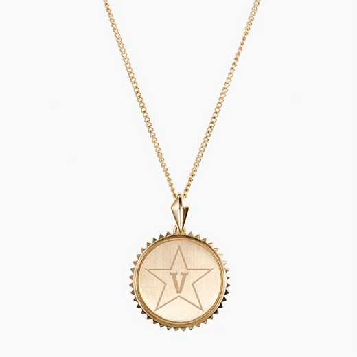 VAN0116STAR: Cavan Gold Vanderbilt Sunburst Necklace by KYLE CAVAN