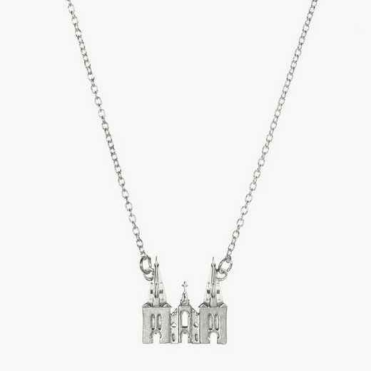 VU0206: Sterling Silver Villanova Church Necklace by KYLE CAVAN