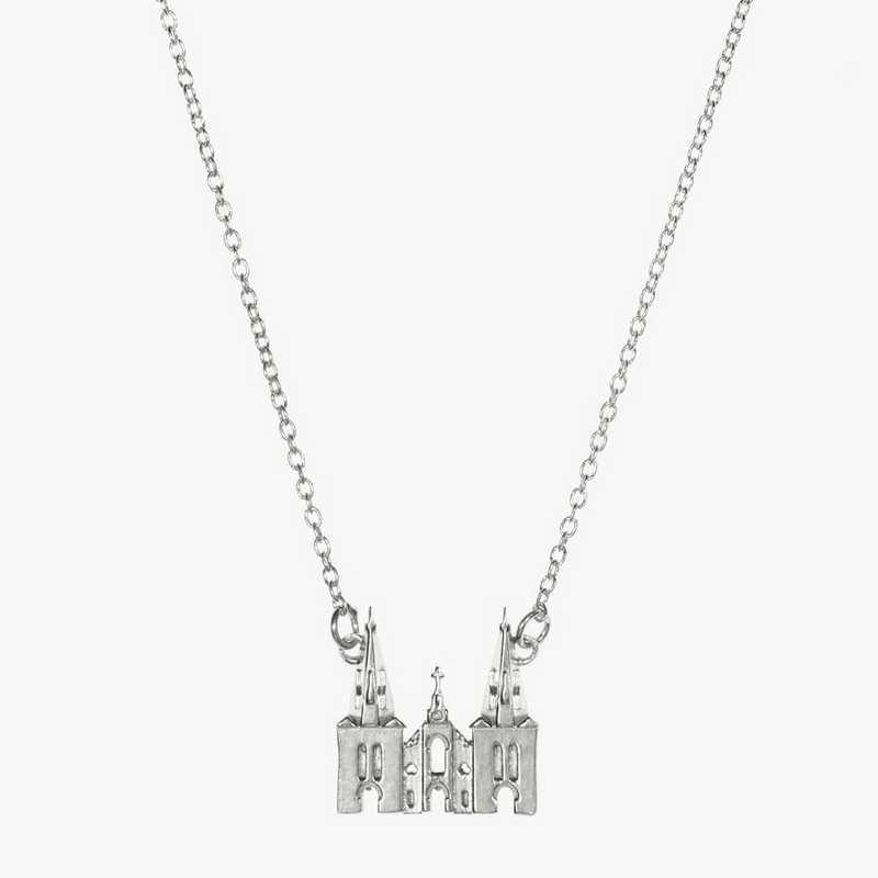 VU0206: Sterling Silver Villanova Church Necklace by KYLE CAVAN
