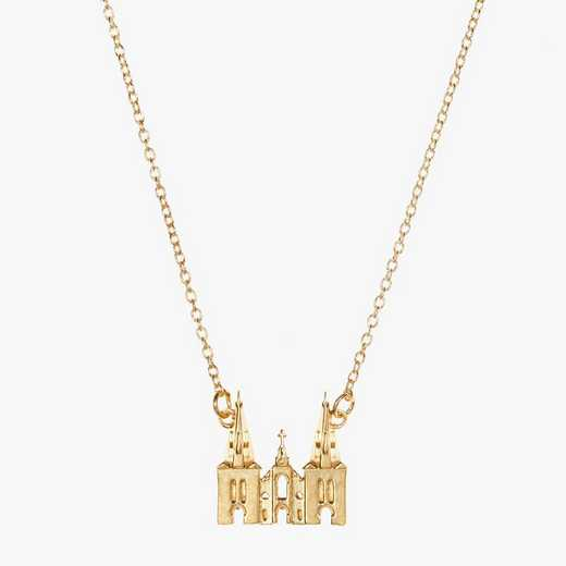 VU0207AU: 14k Yellow Gold Villanova Church Necklace by KYLE CAVAN