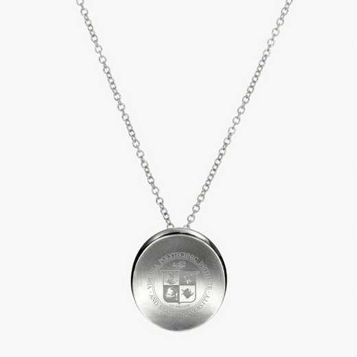 VT0112: Sterling Silver Virginia Tech Organic Necklace by KYLE CAVAN