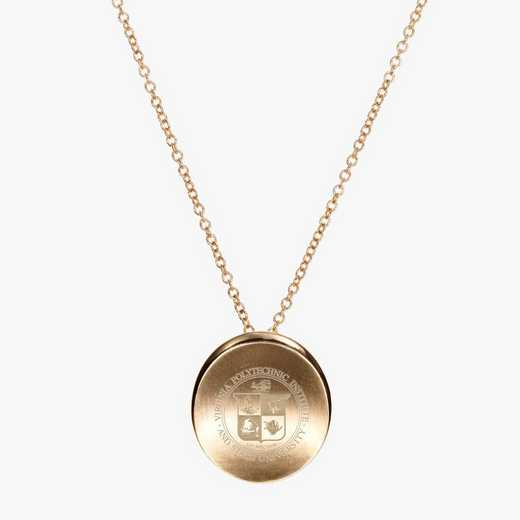VT0113: Cavan Gold Virginia Tech Organic Necklace by KYLE CAVAN