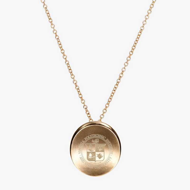 VT0113: Cavan Gold Virginia Tech Organic Necklace by KYLE CAVAN