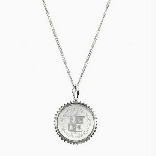 VT0115: SS Virginia Tech Sunburst Necklace by KYLE CAVAN