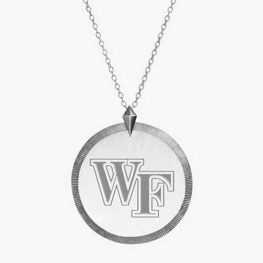 WF0121: Sterling Silver Wake Forest Florentine Ncklc by KYLE CAVAN