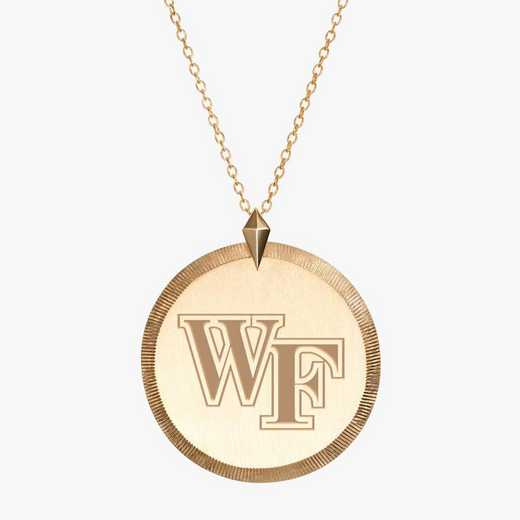 WF0122: Cavan Gold Wake Forest Florentine Necklace by KYLE CAVAN