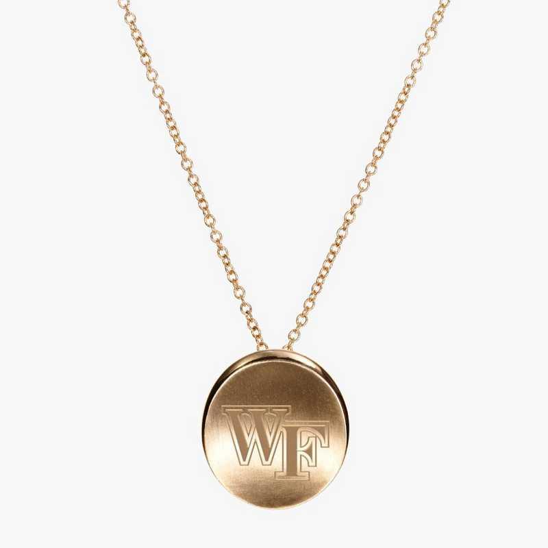 WF0113: Cavan Gold Wake Forest Organic Necklace by KYLE CAVAN