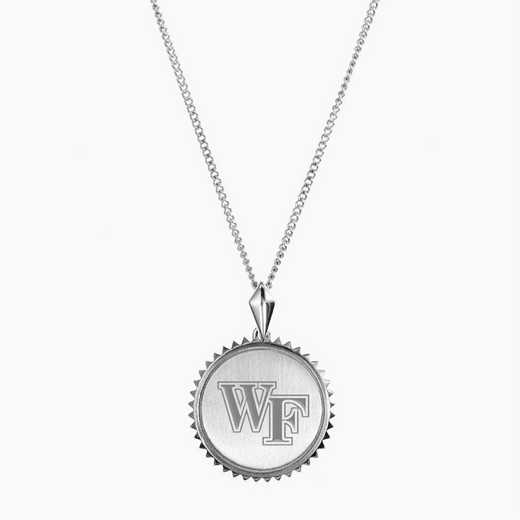 WF0115: Sterling Silver Wake Forest Sunburst Necklace by KYLE CAVAN