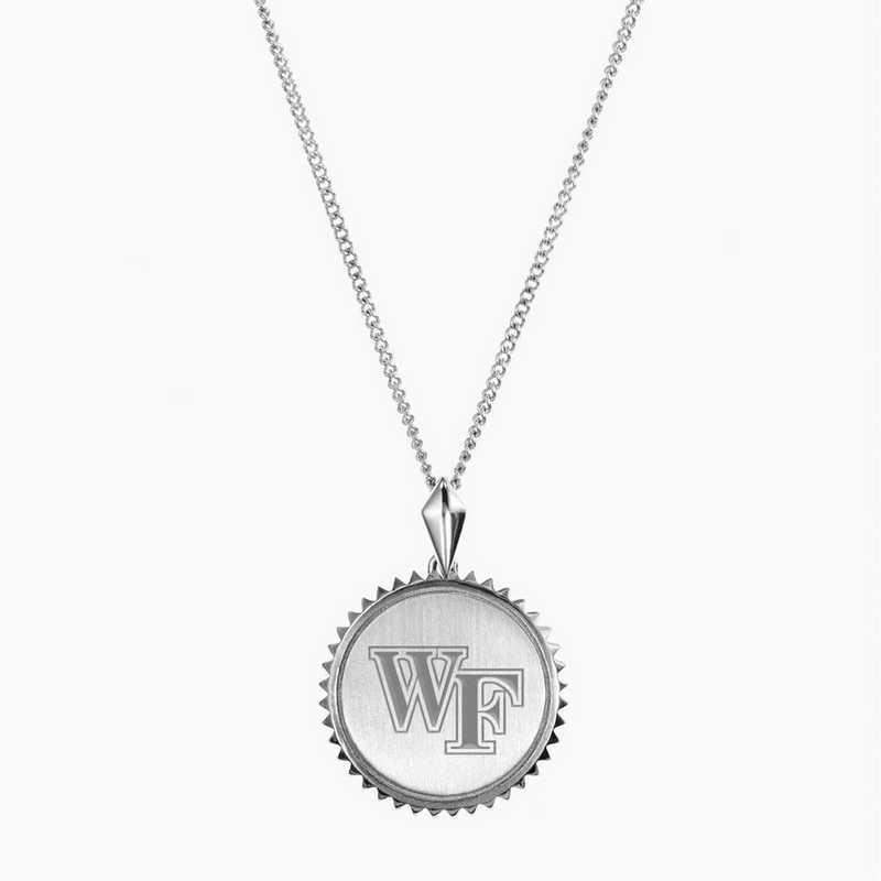 WF0115: Sterling Silver Wake Forest Sunburst Necklace by KYLE CAVAN