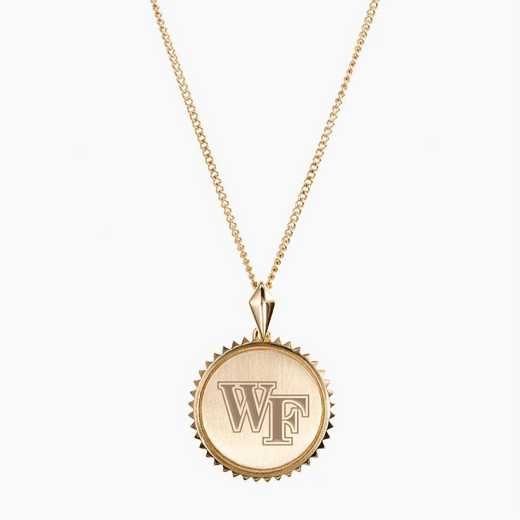 WF0116AU: 14k Yellow Gold Wake Forest Sunburst Necklace by KYLE CAVAN