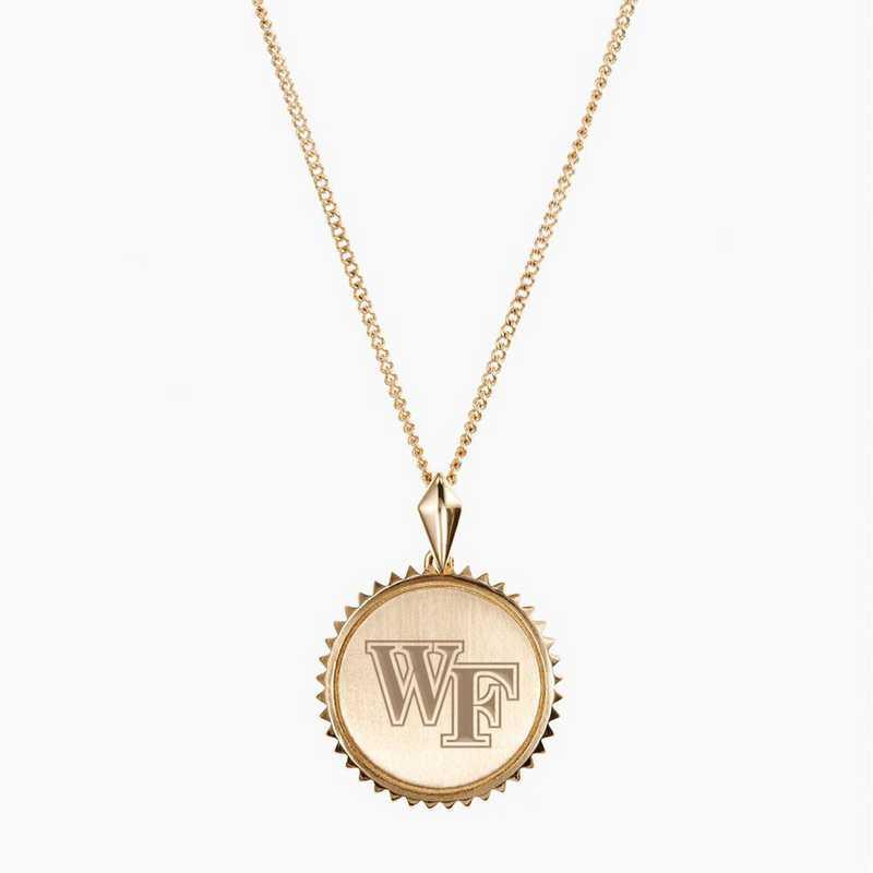 WF0116AU: 14k Yellow Gold Wake Forest Sunburst Necklace by KYLE CAVAN