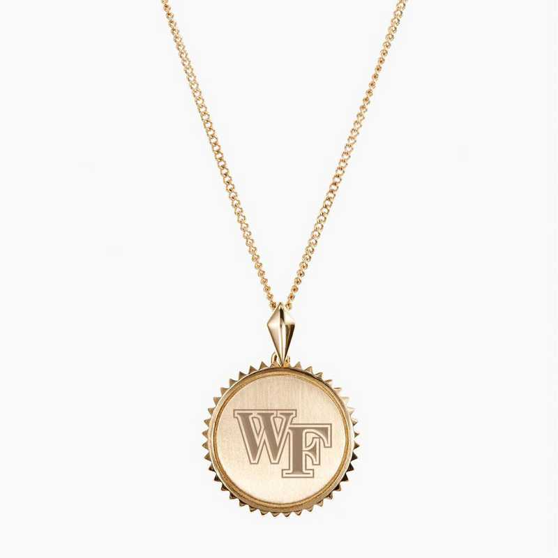 WF0116: Cavan Gold Wake Forest Sunburst Necklace by KYLE CAVAN