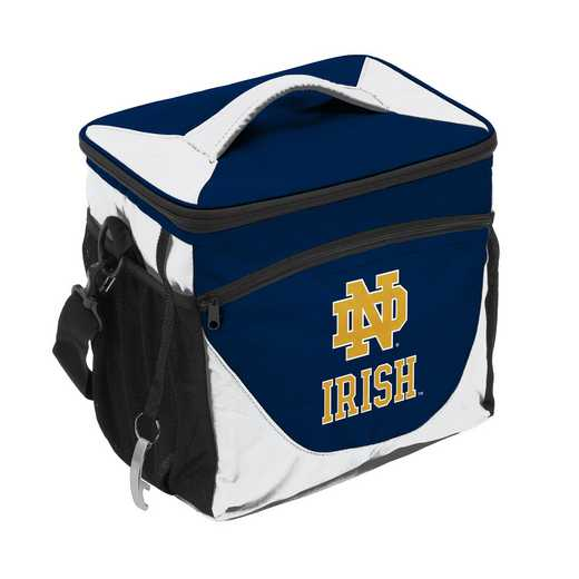 190-63-1: NCAA  Notre Dame Navy/Wht 24 Can Cooler