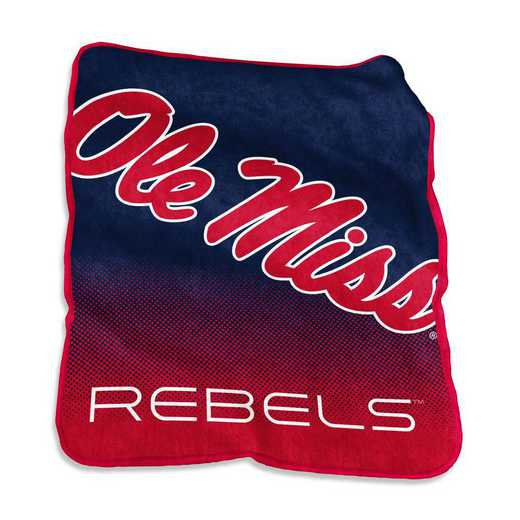 176-26A: LB Ole Miss Raschel Throw