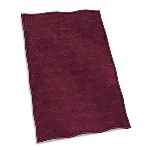 177-28V: LB Mississippi State Velvet Plush Blanket