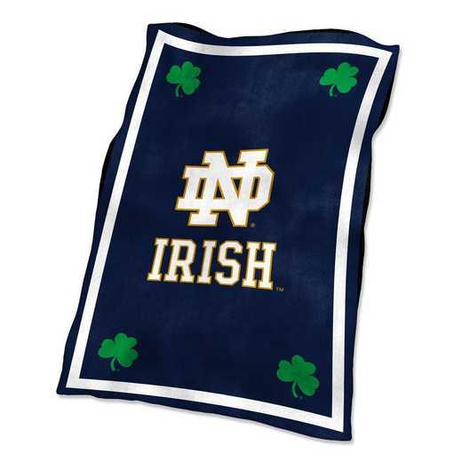 190-27-1: LB Notre Dame Navy/White UltraSoft Blanket