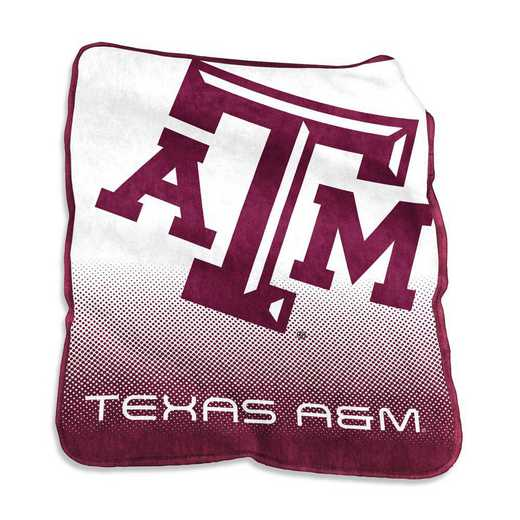 219-26A: LB TX A&M Raschel Throw