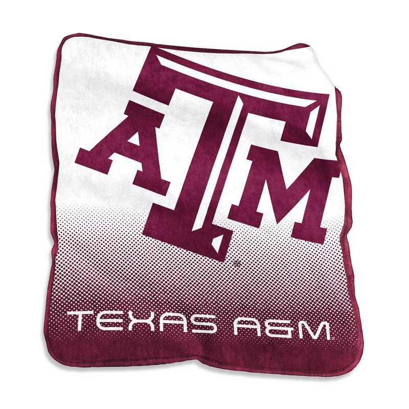 219-26A: LB TX A&M Raschel Throw