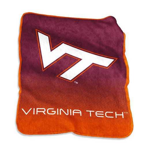 235-26A: LB Virginia Tech Raschel Throw