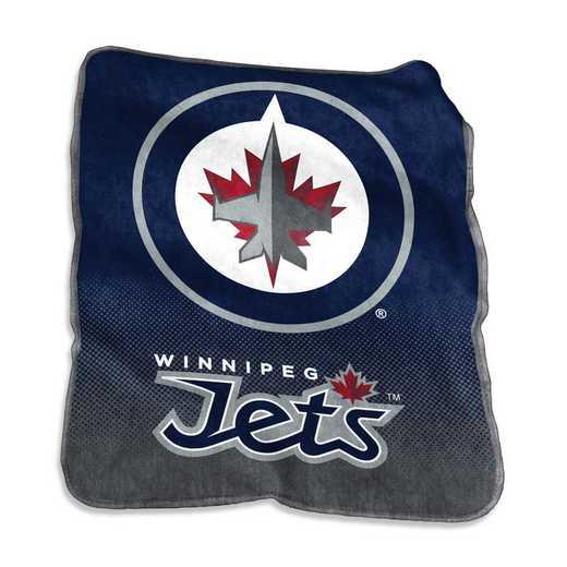 802-26A: LB Winnipeg Jets Raschel Throw