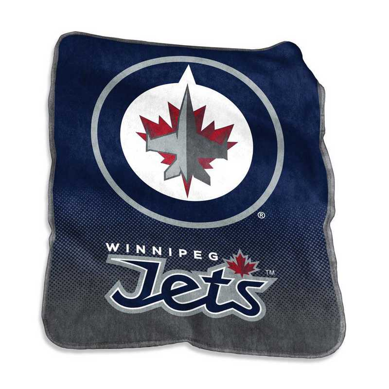 802-26A: LB Winnipeg Jets Raschel Throw