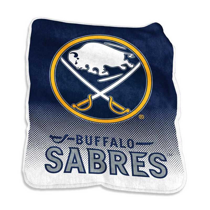 804-26A: LB Buffalo Sabers Raschel Throw