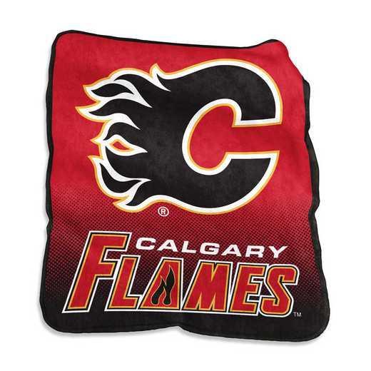 805-26A: LB Calgary Flames Raschel Throw