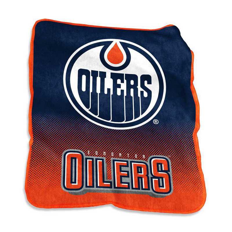 812-26A: LB Edmonton Oilers Raschel Throw