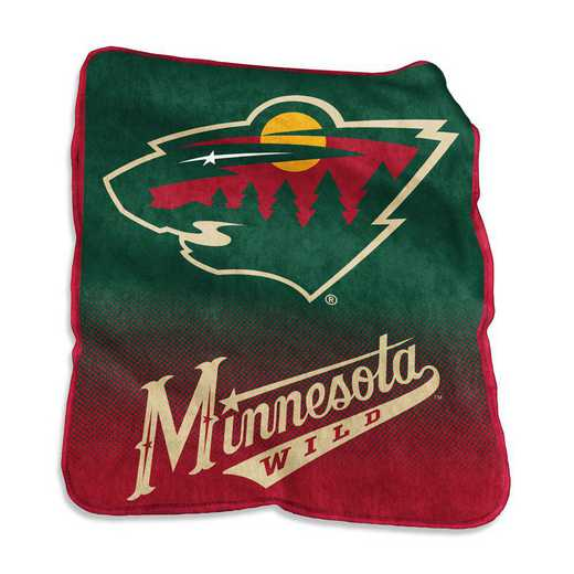 815-26A: LB Minnesota Wild Raschel Throw