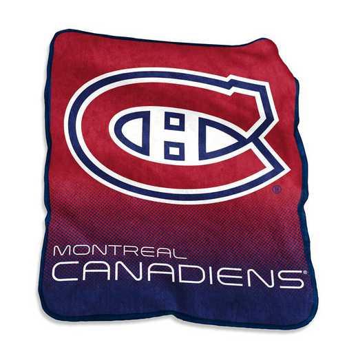 816-26A: LB Montreal Canadians Raschel Throw